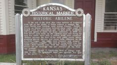 30. HISTORIC ABILENE At the end of the Civil War when millions of longhorns were left on the plains of Texas without a market, the Union Pacific was building west across Kansas. Joseph McCoy, an Illinois stockman, believed these cattle could be herded north for shipment by rail. Kansas Usa, State Of Kansas, Longhorns, 50 States, Historical Society, Cattle, Missouri, Illinois, Joseph