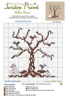 arbre d'hiver - Jardin Privé (grille gratuite )