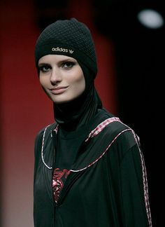 Sporty hijab style with hat! who says you can't wear hats with a hijab :)
