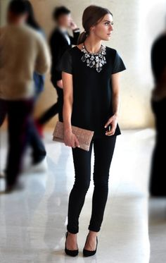 Classic all black outfit & accessories #oliviapalermo