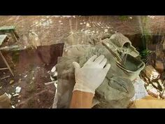 Vasos Reciclando telhas usadas e pedaços de isopor Parte 2 - YouTube
