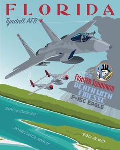 Share Squadron Posters for a 10% off coupon! Tyndall AFB 95th FS F-15 #http://www.pinterest.com/squadronposters/