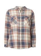 Womens **Only Pink Long Sleeve Check Shirt- Pink