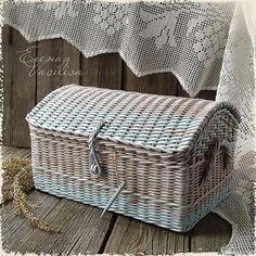 """Купить Сундучок плетеный """"Теплый ноябрь"""" - сундук плетеный, старый сундучок, шкатулка, корзина плетеная"""
