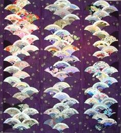 Exhibition of quilts from Japan. This one is by Sashiko Yoshida.