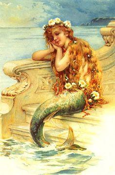 The Artzee Blog: Vintage Little Mermaid Illustration Printable