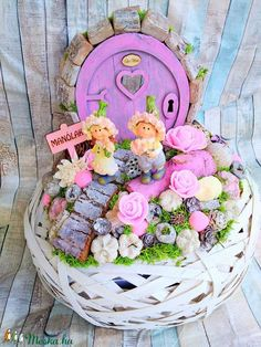 Small Centerpieces, Flower Boxes, Artificial Flowers, Floral Wreath, Fairy, Easter, Wreaths, Spring, Creative
