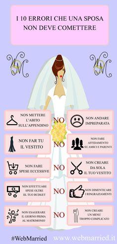 I 10 errori che una sposa non deve commettere! #sposa #abitosposa #matrimonio