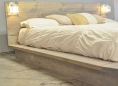 Salta Wood Platform Bedframe with White by KnotsandBiscuits, $965.00