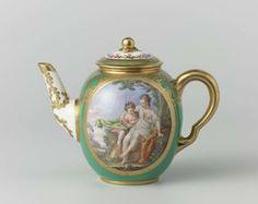 Teapot (théière Calabre), Manufacture de Sèvres, Guillaume Noël, Charles Nicolas Dodin, 1775