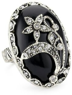 """Azaara """"Crystal"""" Black Onyx Ring - ---See more at http://www.jewelery-shop.commissionblast.com"""