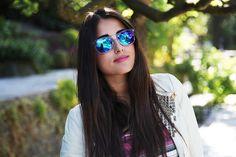 N°93: Retro Wayfarer Colorful Revo Mirror Lens Sunglasses 8609