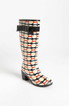 kate spade new york 'randi too' rain boot available at #Nordstrom How cute are these?!