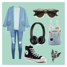 """Street"" by andrea-chaleen on Polyvore featuring beauty, Lipsy, J Brand, Steve J & Yoni P, Paul & Joe Sister, Beats by Dr. Dre and Converse"