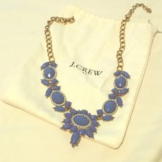 Jcrew Necklace Jcrew necklace with original jewelry bag. It is a periwinkle blue color. Originally purchased about two years ago. J. Crew Jewelry Necklaces