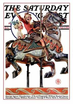 Carousel Ride, by Joseph Christian Leyendecker Jc Leyendecker, Tarot, Joseph, Architecture Art Design, Saturday Evening Post, American Illustration, Painted Pony, Carousel Horses, Barbie
