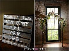 Love story pallet wedding crafts