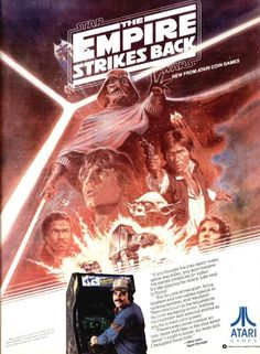 Empire Strakes Back arcade poster