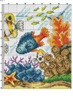 low cost healthy recipes for two people kids pictures Cross Stitch Sea, Cross Stitch Animals, Counted Cross Stitch Patterns, Cross Stitch Designs, Cross Stitch Embroidery, Beaded Ornament Covers, Sea Crafts, Tapestry Crochet, Craft Patterns
