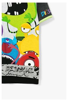 Camiseta gris con monstruos - Urbano | Desigual.com B
