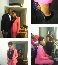 Shaunie Oneal Pink Emilio Pucci Suit - Reunion Fashion= bad!!!