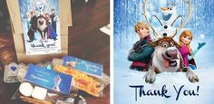 Free Frozen Printables - Thank You Cards & Snack Bag Printables | Sassy Steals