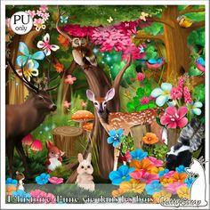 L'Histoire D'une Vie Dans les Bois Kit (PU) de KittyScrap