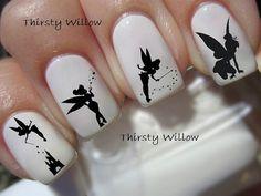 Tinker Bell Silhouette Nail Decals von ThirstyWillow auf Etsy