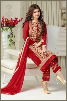 Specifications : Fabric Details Top Chanderi Cotton Silk Bottom Heavy Santoon Dupatta Heavy Nazneen Chiffon General Details Type Work Occasion Casual Wear/Party