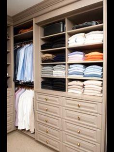 Well Designed Mans Closet.