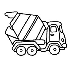 Cement Truck Simple Sketch