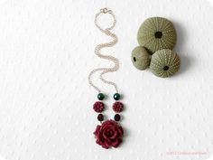 Gold Filled  Roses are Red  floral Necklace by crimsonandfinch, €27.50