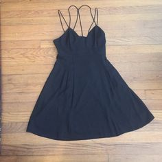 Summer dress Black strappy back cutout dress Express Dresses Mini