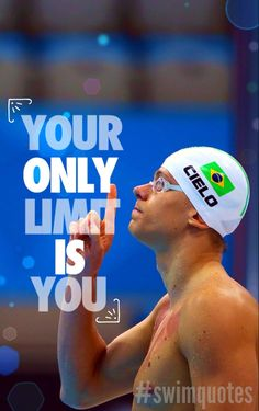 Your Only Limit is you #Swimming #Quotes