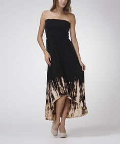 Another great find on #zulily! Brown & Beige Tie-Dye Convertible Maxi Dress by Urban X #zulilyfinds