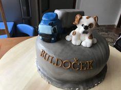 Bulldog and transport cake
