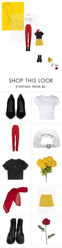 """""""rose"""" by whataresporks ❤ liked on Polyvore featuring Alexander Wang, RE/DONE, Gucci, Monki and Prada"""