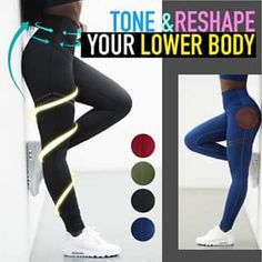Anti-Cellulite Compression Leggings Tone and reshape your legs & lower body with Anti-Cellulite Compression Leggings! These ruched textured pattern targets loose skin on legs flawed by cellulite whiling accentuating your curves by butt lifting. Workout Attire, Workout Wear, Workout Pants, Fitness Workouts, Fitness Tips, Fitness Journal, Fitness Logo, Squats Fitness, Fitness Motivation