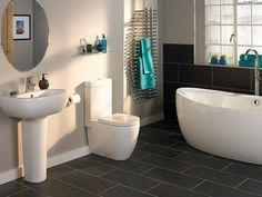 Best Bathroom Floor Covering Ideas House Bathrooms Pinterest Black Slate Tiles Wall And