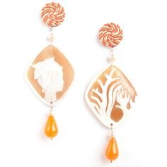 Marina Decò Cameo Earrings - Stella Marina (Starfish)
