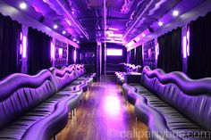 Limo Bus, Charter Bus, Sprinter Limo, and Party Bus transportation services for Wine Tours and all occassions in San Diego & San Francisco Bay Area. Tour Bus Interior, Party Bus Rental, Limo, Night Club, Transportation, California, San Francisco, Vintage Typewriters, Buses