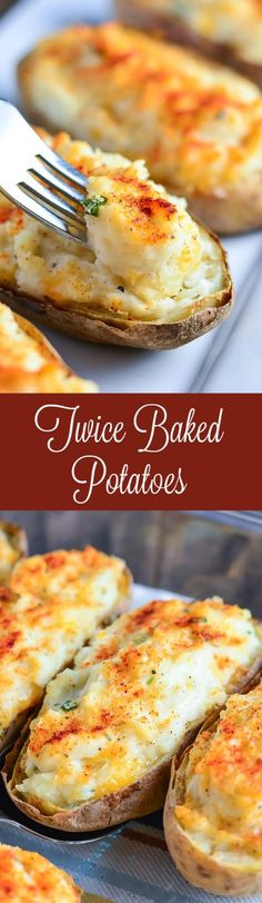 Make these cheesy Twice Baked Potatoes for a perfectly portioned delicious side dish!