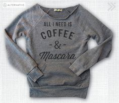 COFFEE & MASCARA Grey / Charcoal Funny Off-Shoulder door everfitte