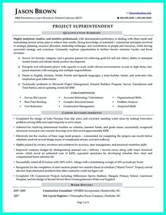 Construction superintendent resume can be in simple design but it still looks like a professional. In the resume, you will include your skills as cons. construction superintendent resume sample and construction superintendent resume template Resume Form, Job Resume, Best Resume, Resume Tips, Resume Ideas, Sample Resume, Internship Resume, Project Manager Resume, Engineering Resume