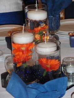 Navy Blue and Orange Wedding | Orange & Navy Blue Wedding at Amber Springs