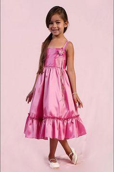 Brilliant Flower Zipper Cheap Flower Girl Dress