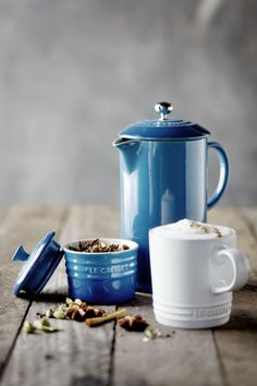 Spiced Chai Latte with the Le Creuset Cafe Collection