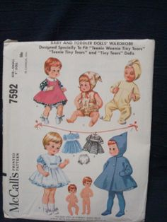1960s Doll Clothes Sewing Pattern for 9 Inch Dolls by kinseysue