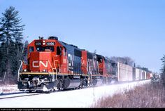 USA - IC 6106 Illinois Central Railroad EMD SD40-2 at Gilchrist, Michigan by Chuck Schwesinger
