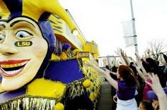 a float at Mardi Gras